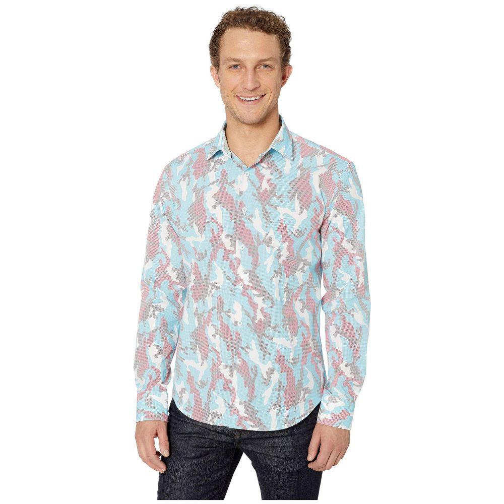 ブガッチ BUGATCHI メンズ シャツ トップス【Camo Long Sleeve Shaped Fit Button-Up Shirt】Turquoise