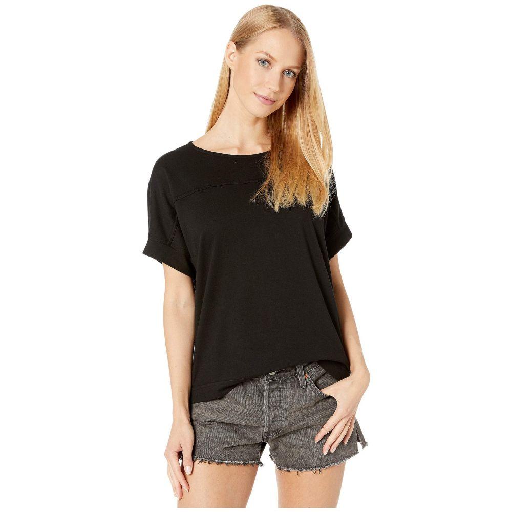マイケルスターズ Michael Stars レディース Tシャツ トップス【Ventura Jersey Alice Half Sleeve Boxy Top】Black
