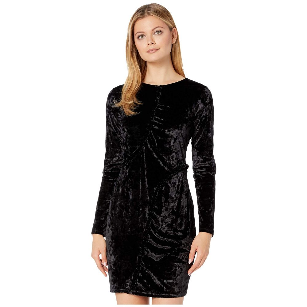 マイケル コース MICHAEL Michael Kors レディース ワンピース ワンピース・ドレス【Velvet Ruffle Smocked Dress】Black