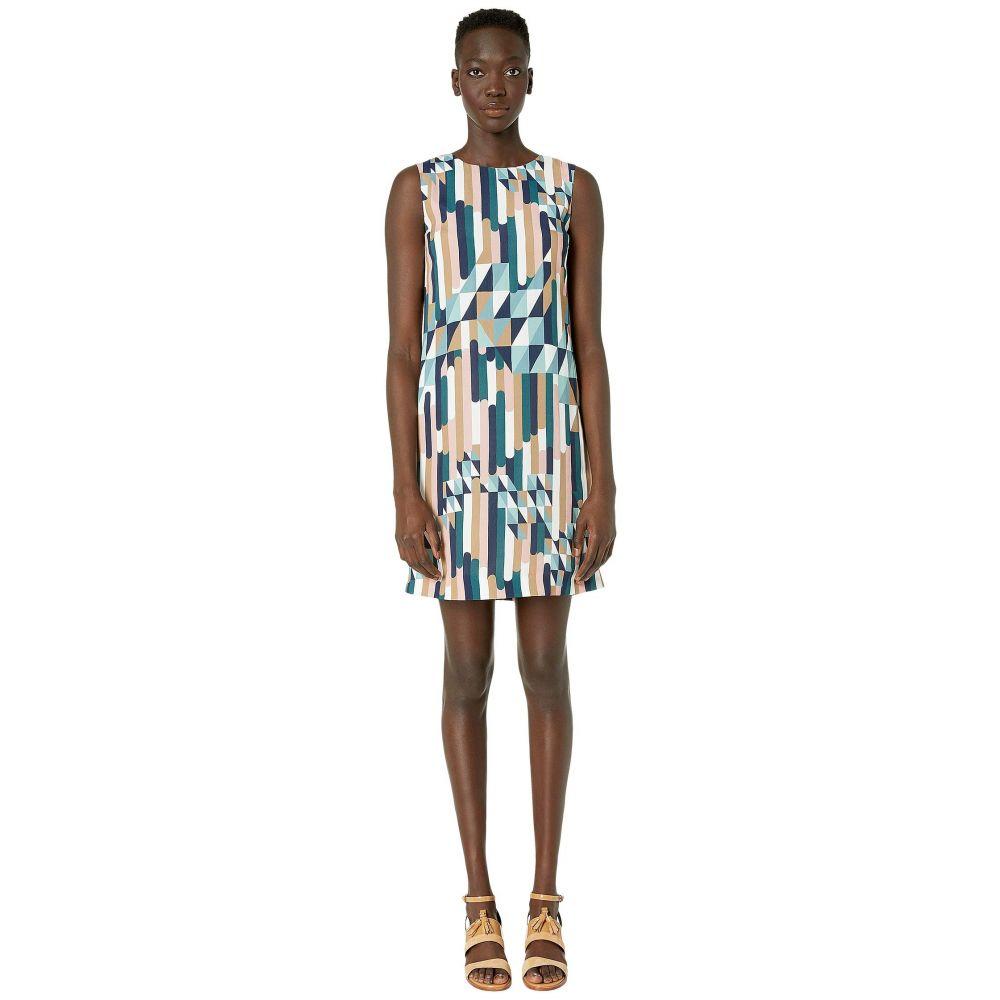 ミッソーニ M Missoni レディース ワンピース シフトドレス ワンピース・ドレス【Shift Dress in Broken Stripe Print】Blue