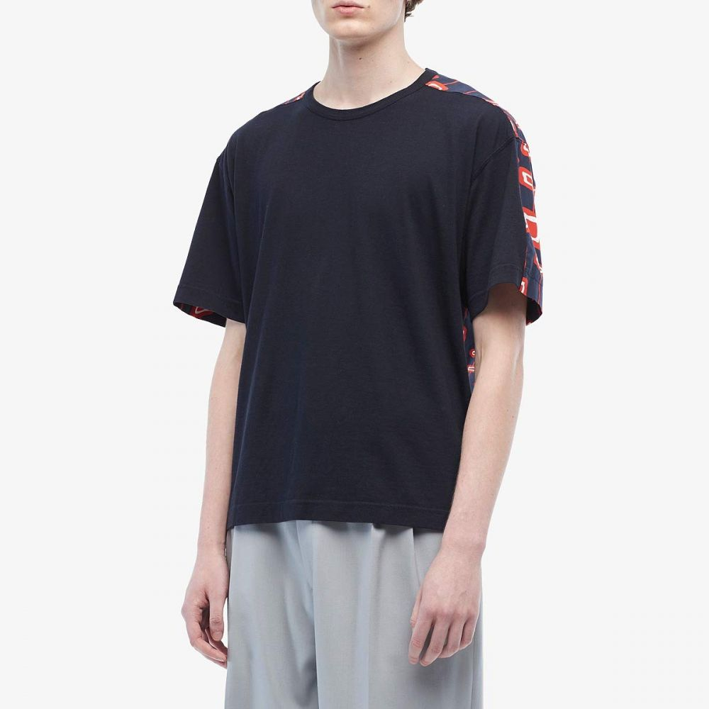マルニ MARNI メンズ Tシャツ トップス【Abstract Rectangle Mixed Fabric T-Shirt】Blue/Navy