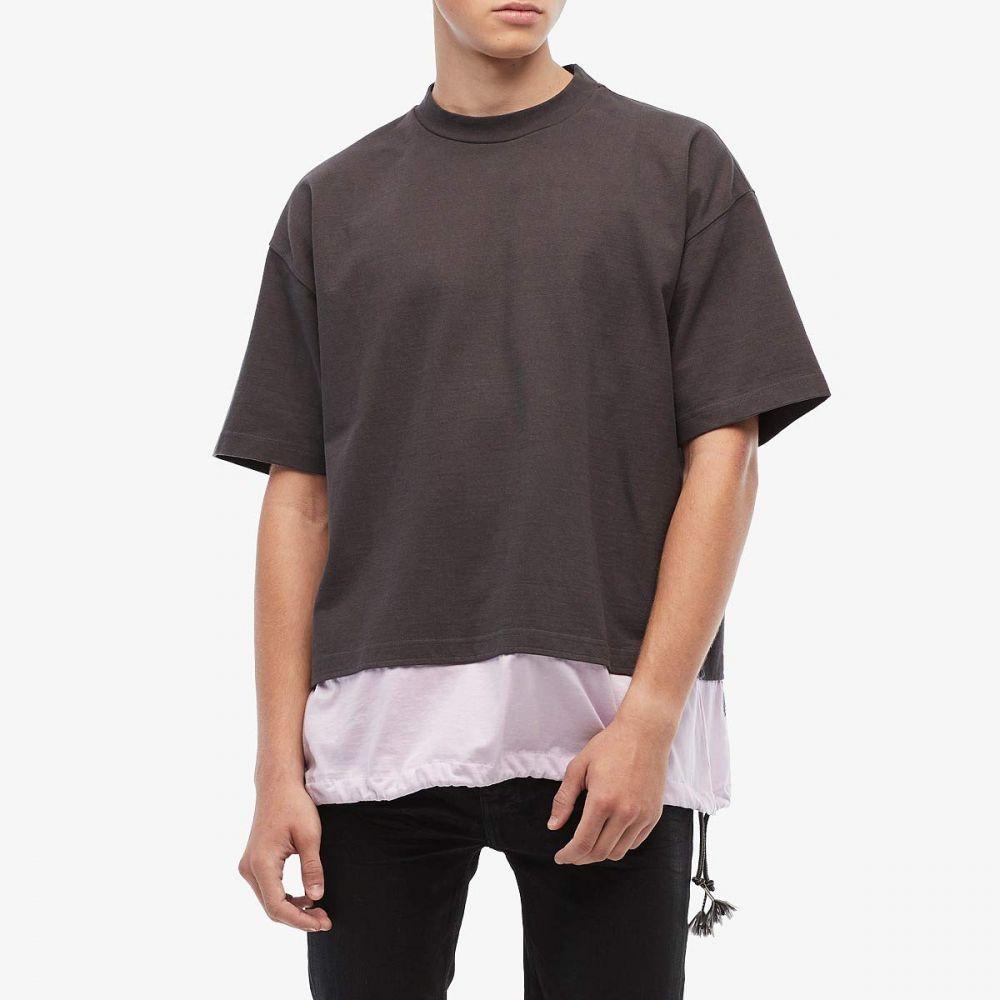 マルニ MARNI メンズ Tシャツ トップス【Mixed Media Heavy Cotton Toggle T-Shirt】Grey