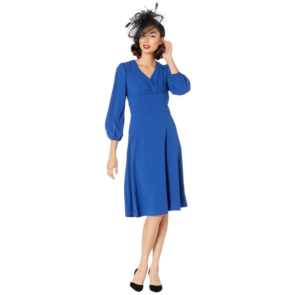 ユニークヴィンテージ Unique Vintage レディース ワンピース ワンピース・ドレス【Micheline Pitt for 1950s Style Royal Pris Swing Dress】Blue