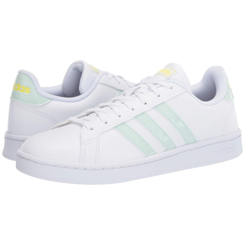 アディダス adidas レディース スニーカー シューズ・靴【Grand Court】Footwear White/Dash Green/Shock Yellow