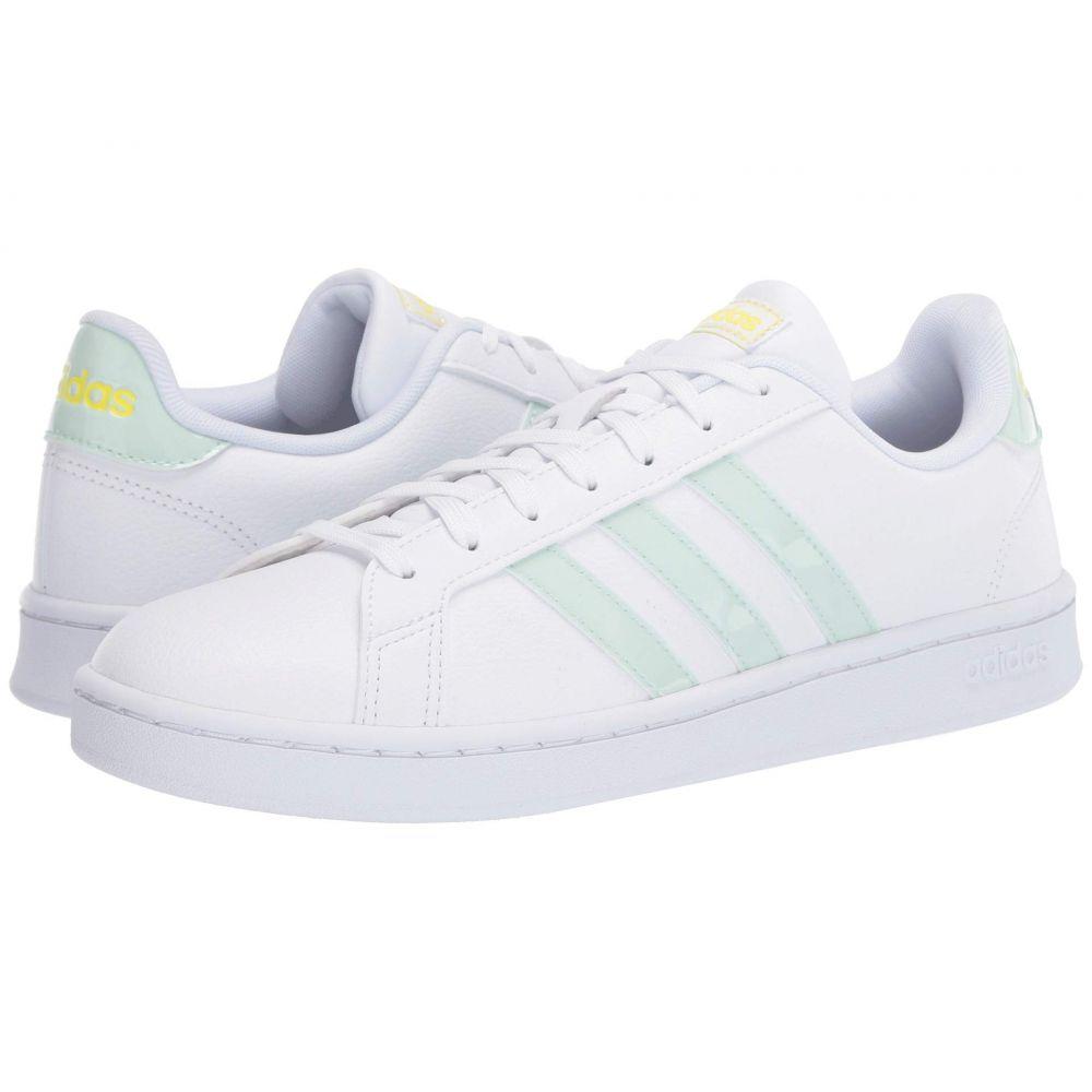 アディダス adidas レディース スニーカー シューズ・靴【Grand Court】Footwear White/Dash Green/Shock Yellow