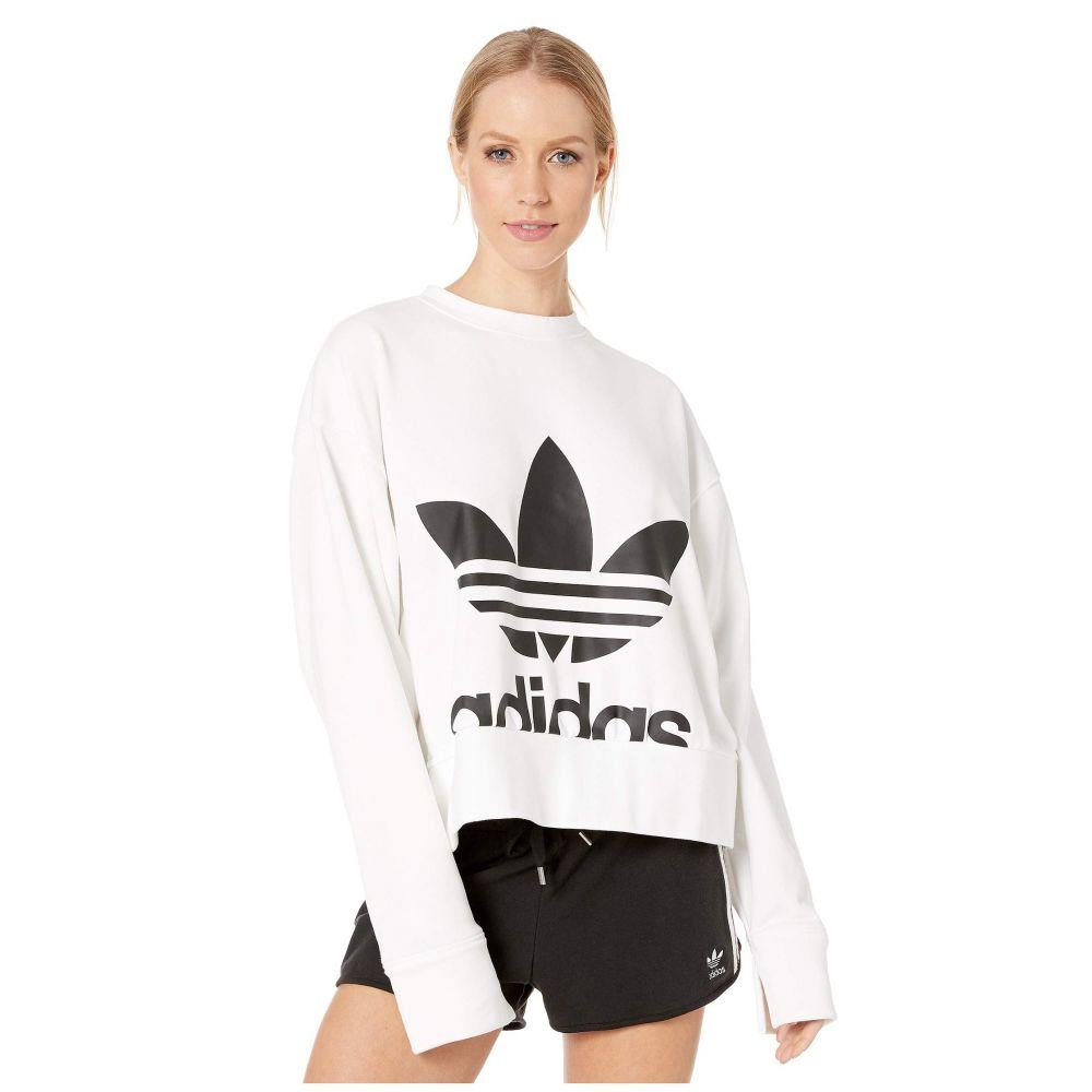 アディダス adidas Originals レディース スウェット・トレーナー トップス【Originals Sweatshirt】White/Sun
