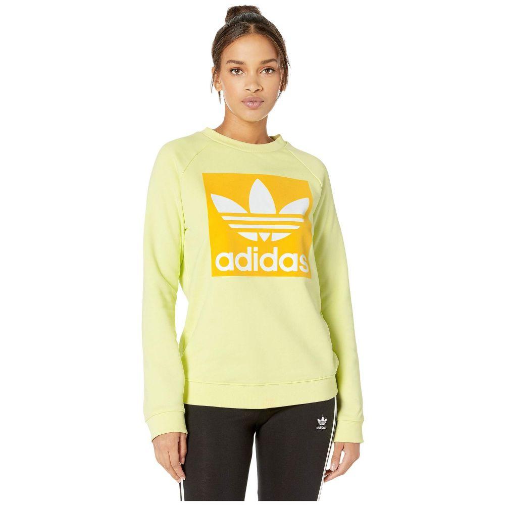 アディダス adidas Originals レディース スウェット・トレーナー トップス【Trefoil Crew Sweatshirt】Ice Yellow
