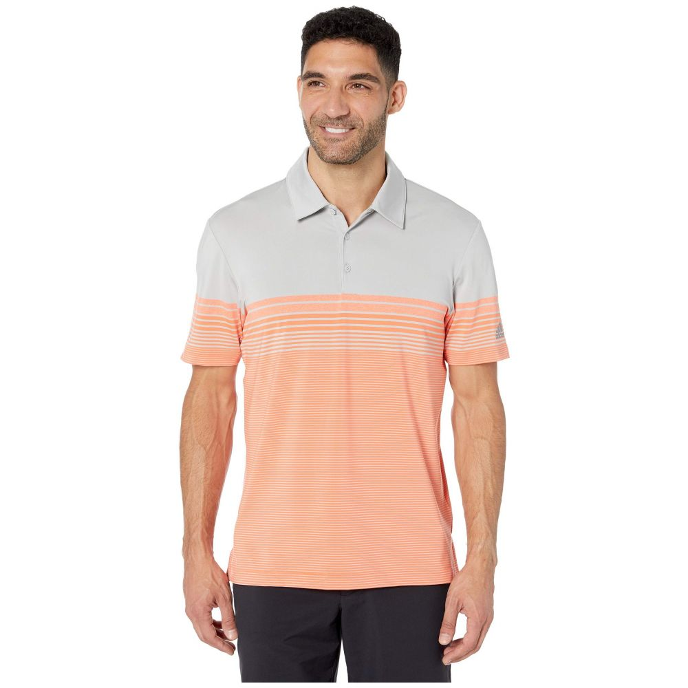 アディダス adidas Golf メンズ ポロシャツ トップス【Ultimate Gradient Block Stripe Polo】Hi-Res Coral