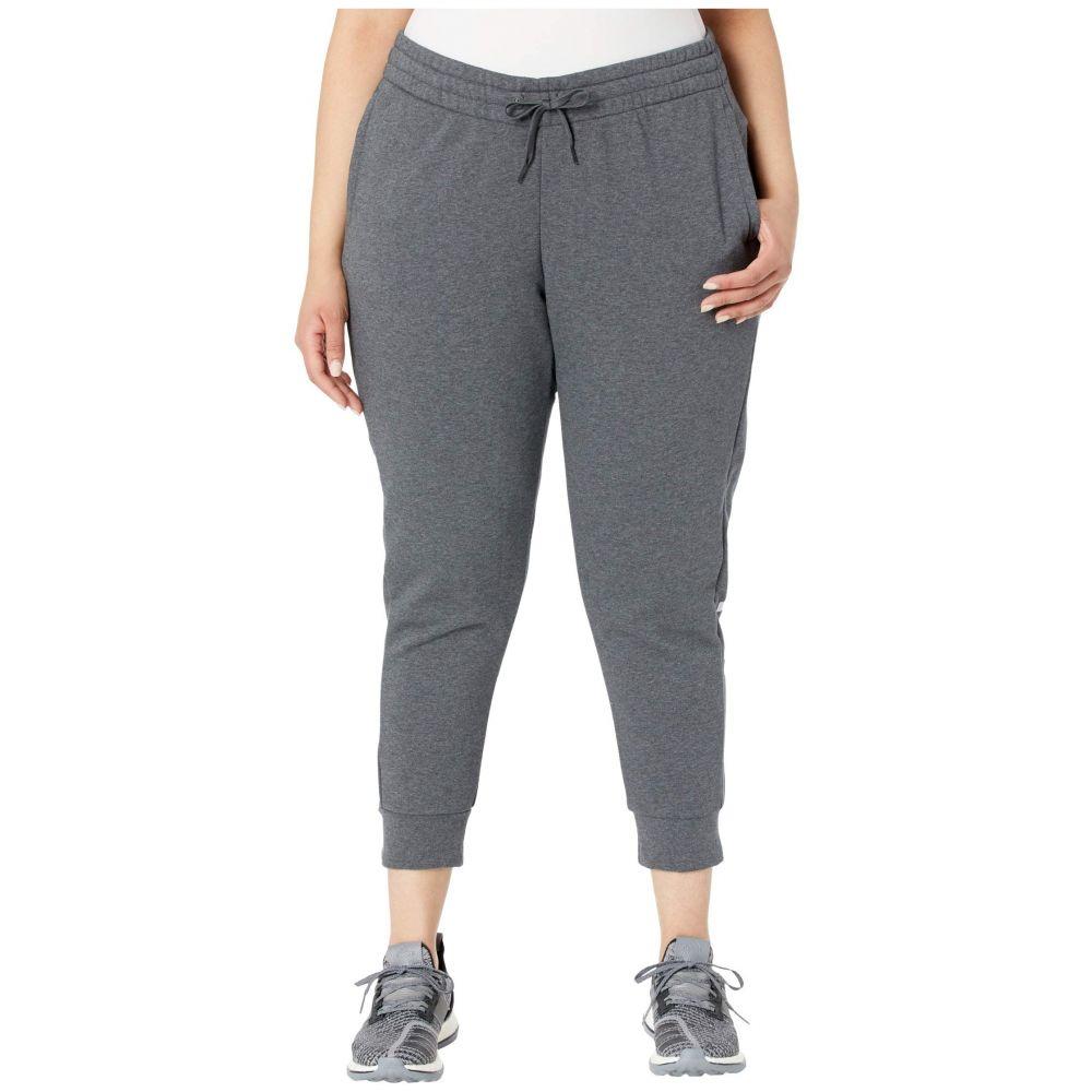 アディダス adidas レディース ボトムス・パンツ 大きいサイズ【Plus Size Essential Linear Cuffed Pants】Dark Grey Heather/Purple Tint
