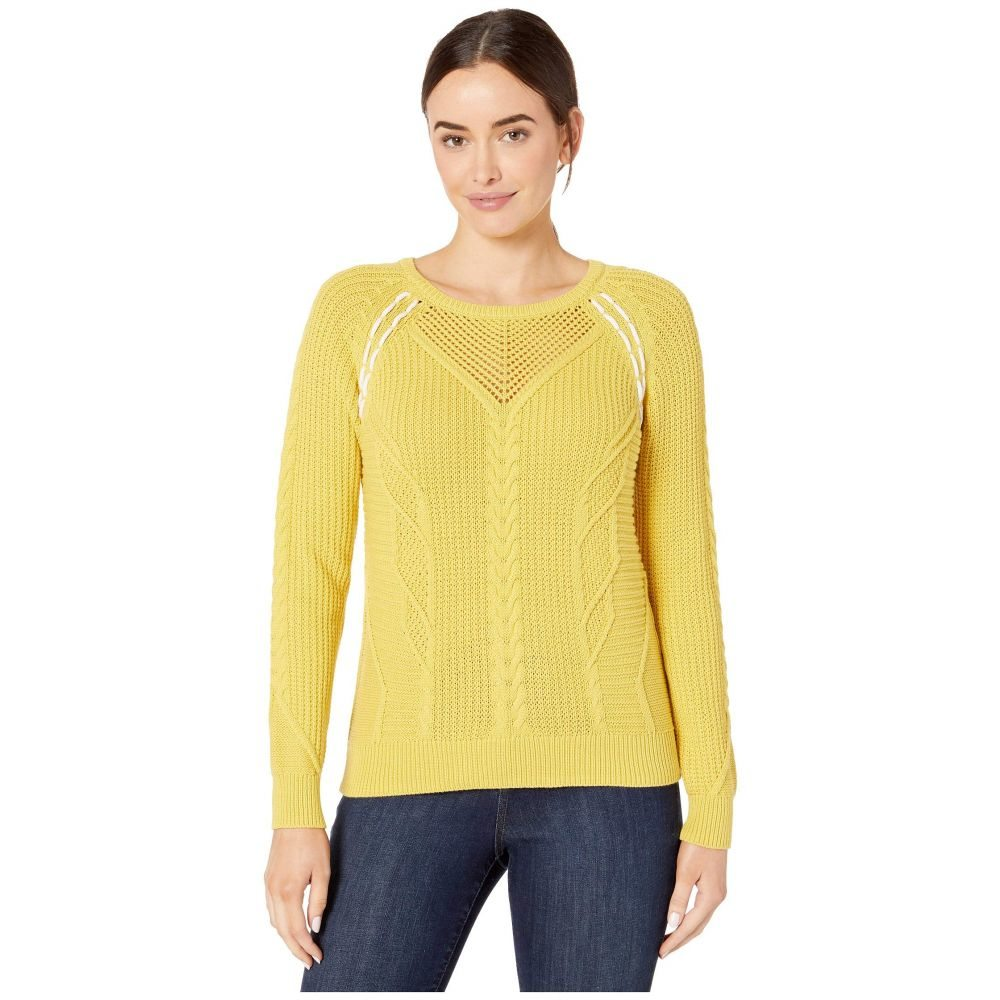 リラピー Lilla P レディース ニット・セーター トップス【Cable Stitch Pullover Sweater】Mustard