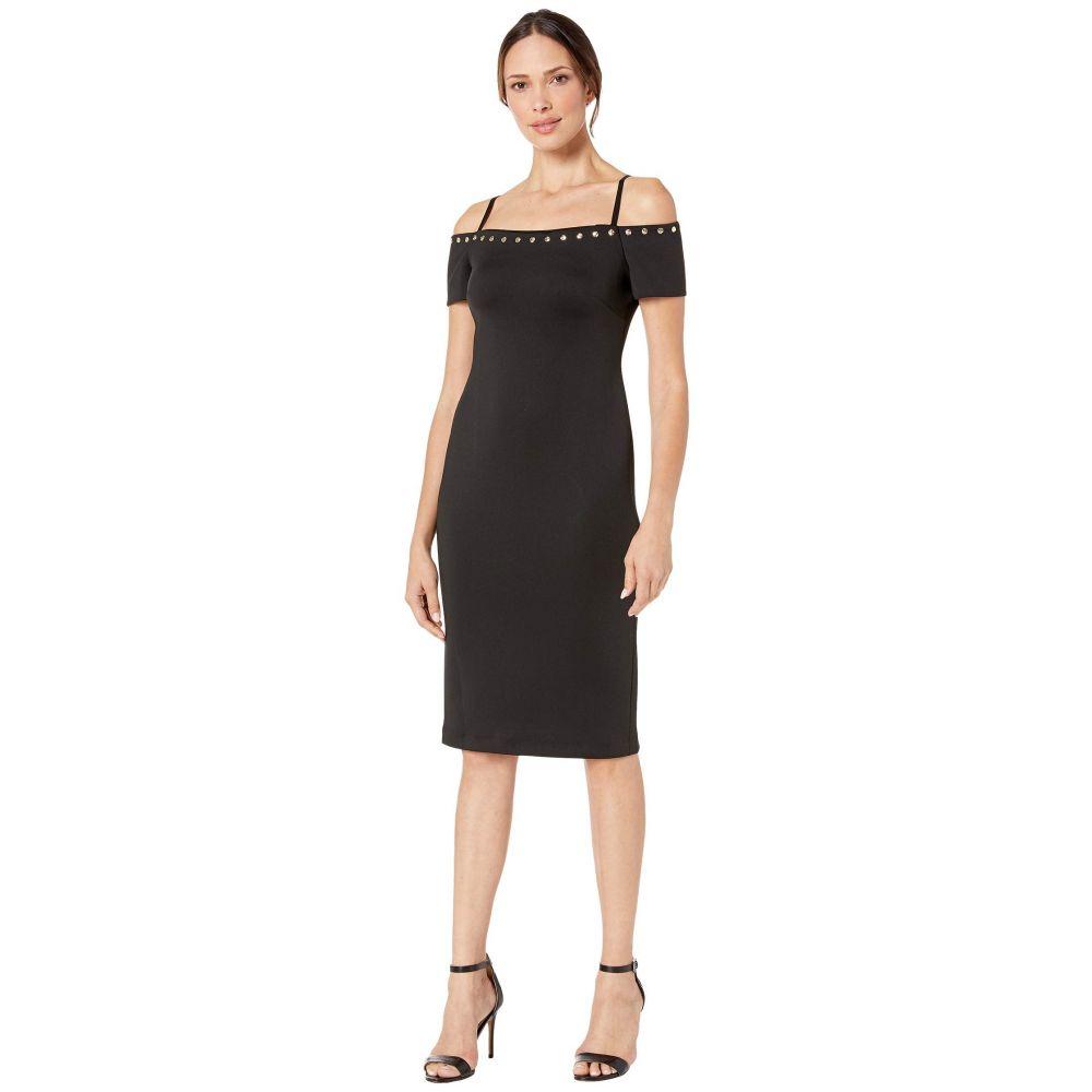 カルバンクライン Calvin Klein レディース ワンピース ワンピース・ドレス【Off-the-Shoulder Sheath Dress with Hardware Detail】Black