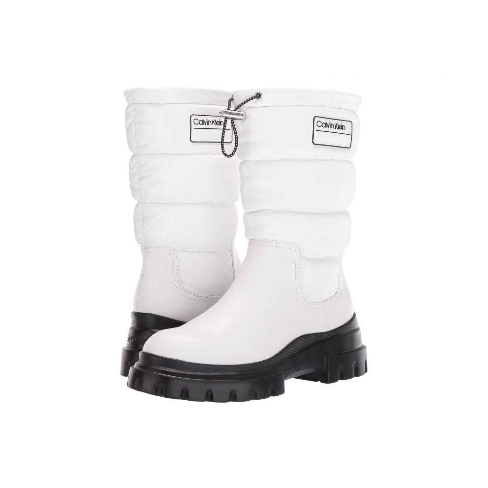 カルバンクライン Calvin Klein レディース ブーツ シューズ・靴【Laeton】White/White Cow Kansas/Crinkle