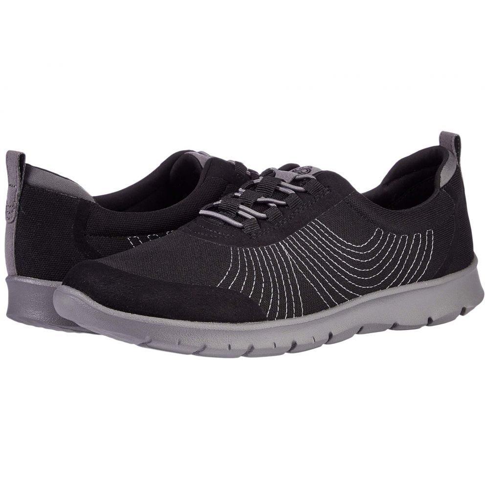 クラークス Clarks レディース スニーカー シューズ・靴【Step Allena Bay】Black Textile