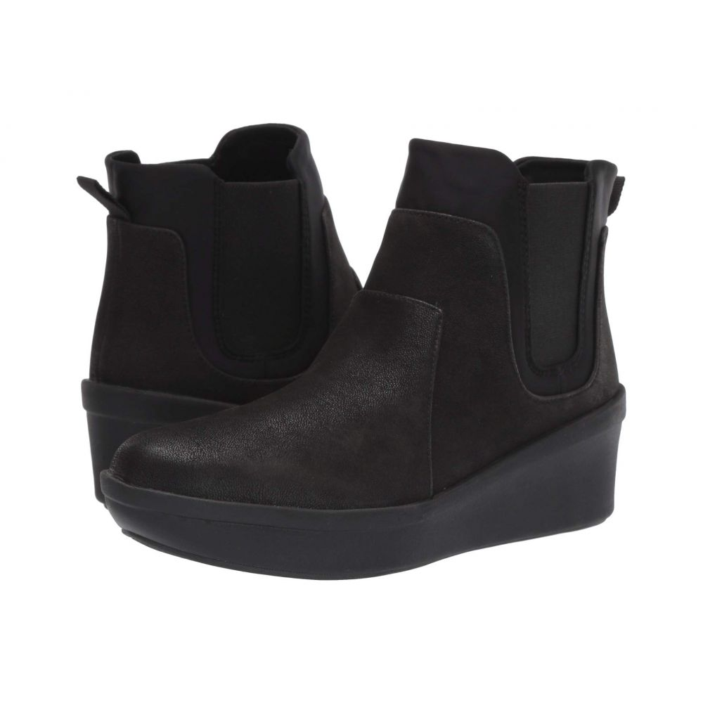クラークス Clarks レディース ブーツ シューズ・靴【Step Rose Sun】Black Textile