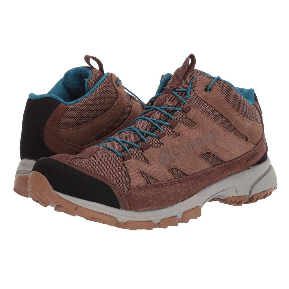 コロンビア メンズ ハイキング・登山 シューズ・靴 Dark Truffle/Lagoon 【サイズ交換無料】 コロンビア Columbia メンズ ハイキング・登山 シューズ・靴【Five Forks Mid Waterproof】Dark Truffle/Lagoon