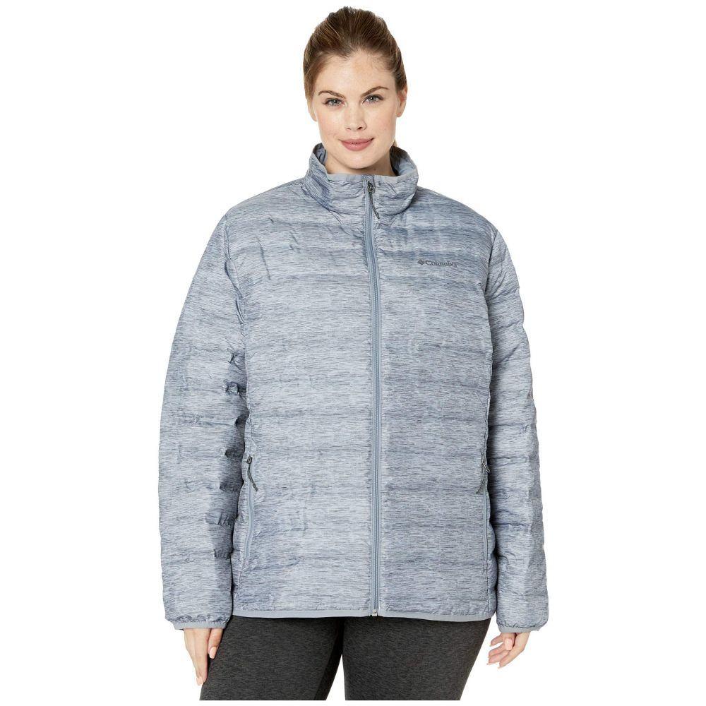 コロンビア Columbia レディース ダウン・中綿ジャケット 大きいサイズ アウター【Plus Size Lake 22 Down Jacket】Tradewinds Grey/Heather Print/Tradewinds Grey