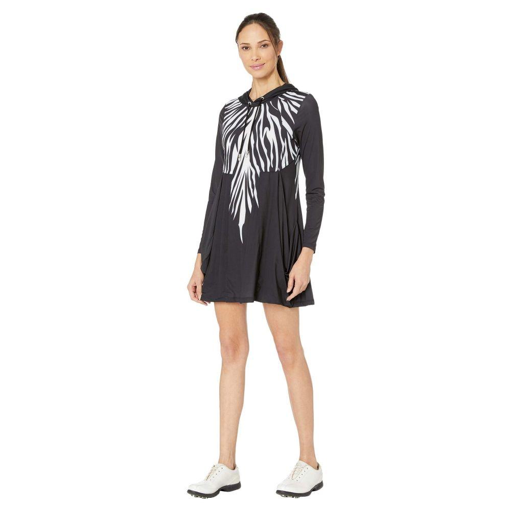 ジェイミー サドック Jamie Sadock レディース ワンピース ワンピース・ドレス【Sunsense 50 UVP Zebra Print Long Sleeve Hooded Dress】Jet