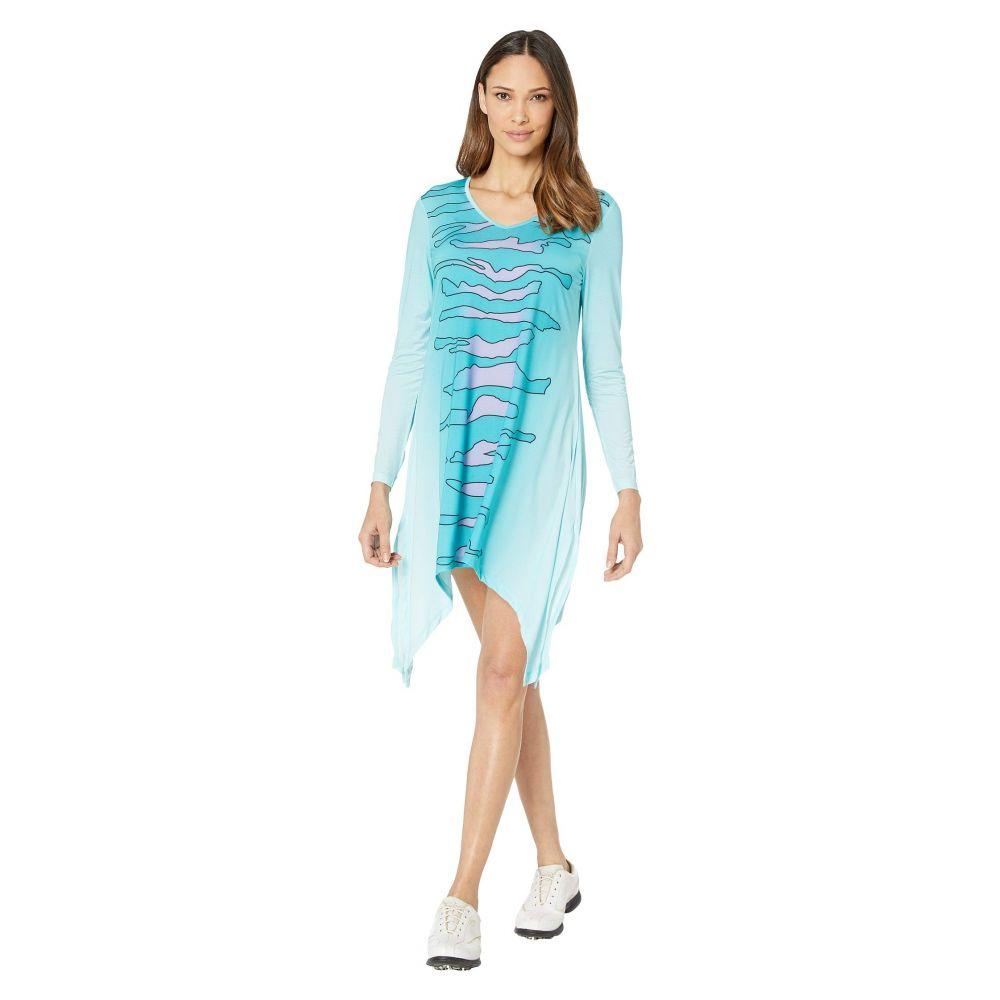 ジェイミー サドック Jamie Sadock レディース ワンピース ワンピース・ドレス【Sunsense 50 UVP Zebra Print Long Sleeve Dress】Serrnity