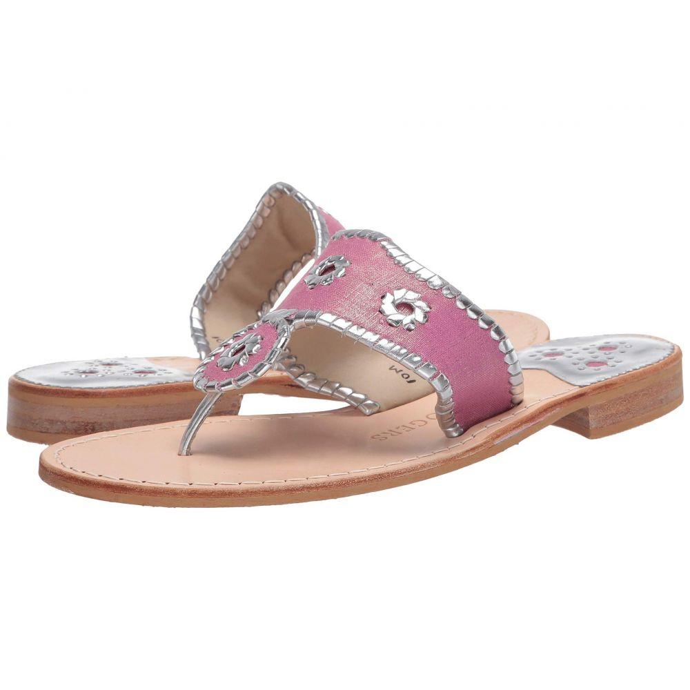ジャックロジャース Jack Rogers レディース サンダル・ミュール シューズ・靴【Jacks Flat Linen】Pink