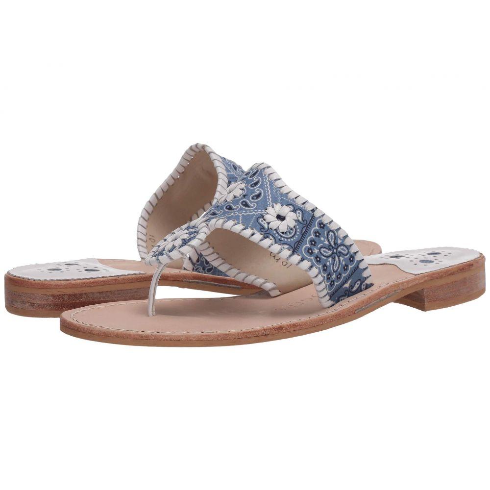 ジャックロジャース Jack Rogers レディース サンダル・ミュール シューズ・靴【Jacks Flat Bandana】Blue