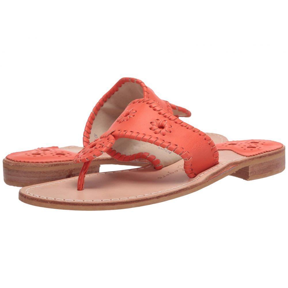 ジャックロジャース Jack Rogers レディース サンダル・ミュール フラット シューズ・靴【Jacks Flat Sandal】Orange