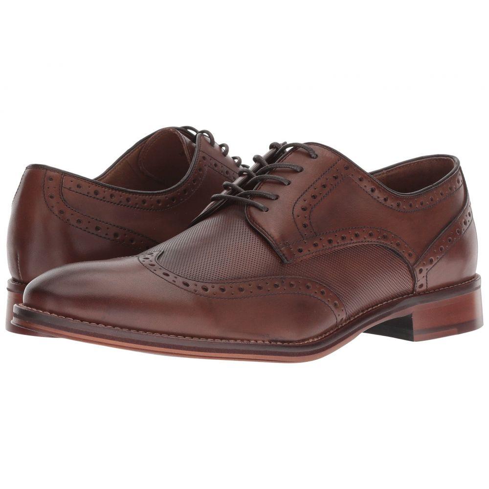 ジョンストン&マーフィー Johnston & Murphy メンズ 革靴・ビジネスシューズ ウイングチップ シューズ・靴【Conard Embossed Wingtip】Oak Italian Calfskin