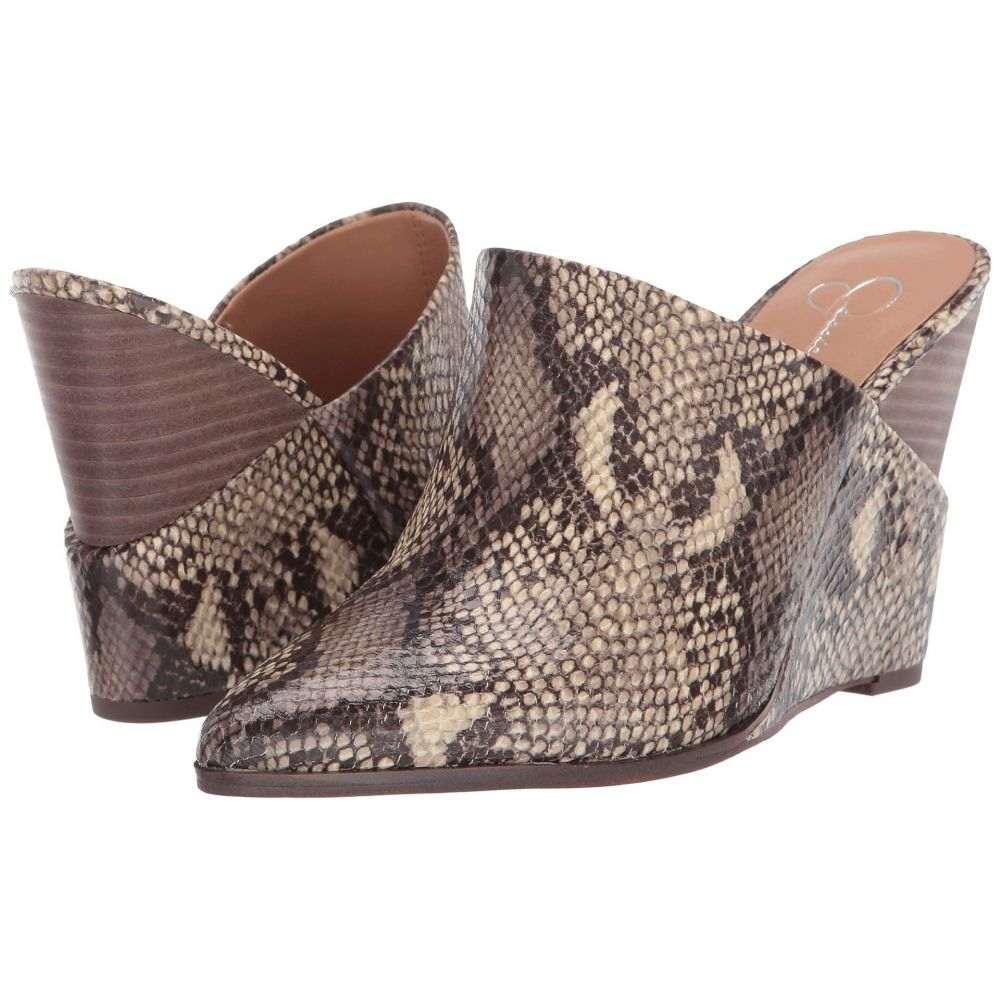 ジェシカシンプソン Jessica Simpson レディース ヒール シューズ・靴【Heilo】Neutral Glossy Desert Snake Print Fabric