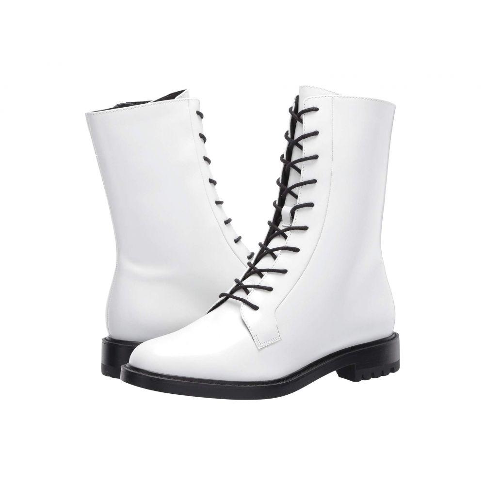 スティーブ マデン Steve Madden レディース ブーツ コンバットブーツ シューズ・靴【Brant Combat Boot】White