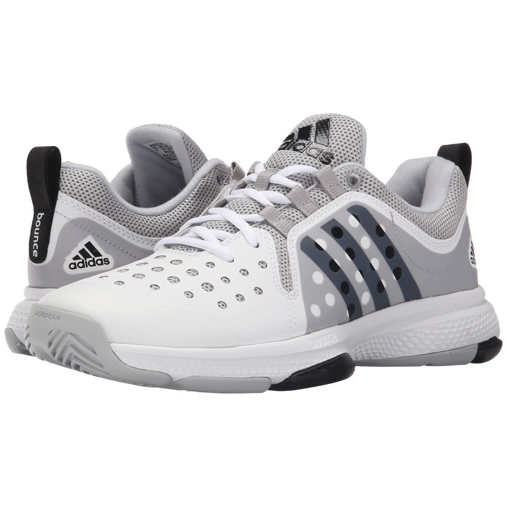 アディダス adidas メンズ シューズ・靴 【Barricade Classic Bounce】White/Black/Grey Heather
