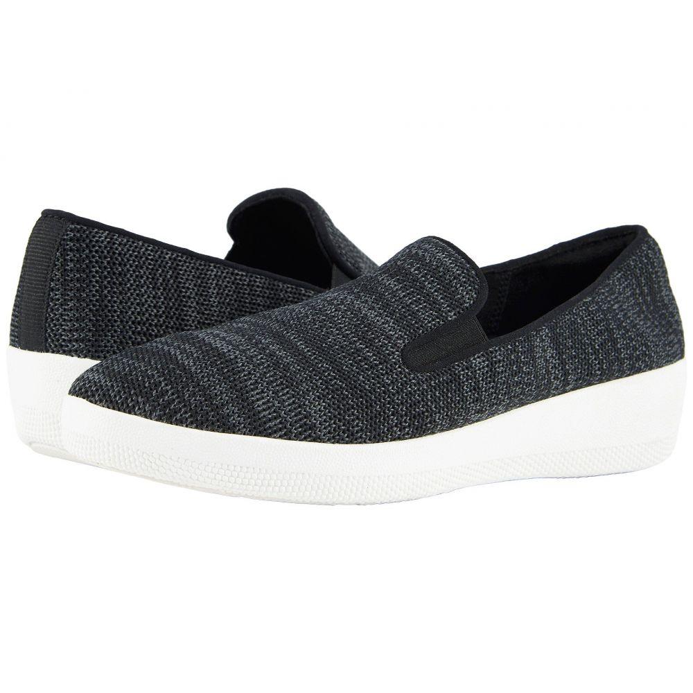 フィットフロップ FitFlop レディース ローファー・オックスフォード シューズ・靴【Superskate Uberknit Loafers】Black/Soft Grey
