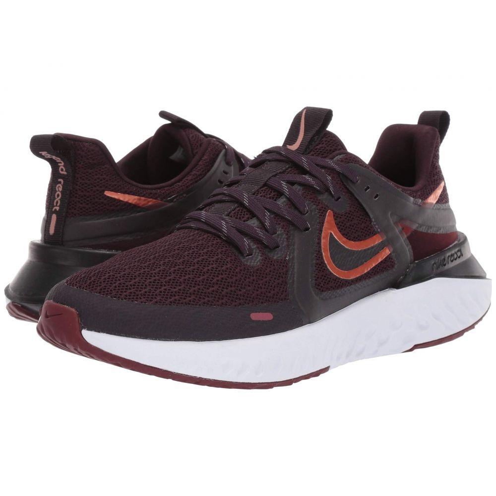 ナイキ Nike レディース ランニング・ウォーキング シューズ・靴【Legend React 2】Burgundy Ash/Metallic Copper/Black