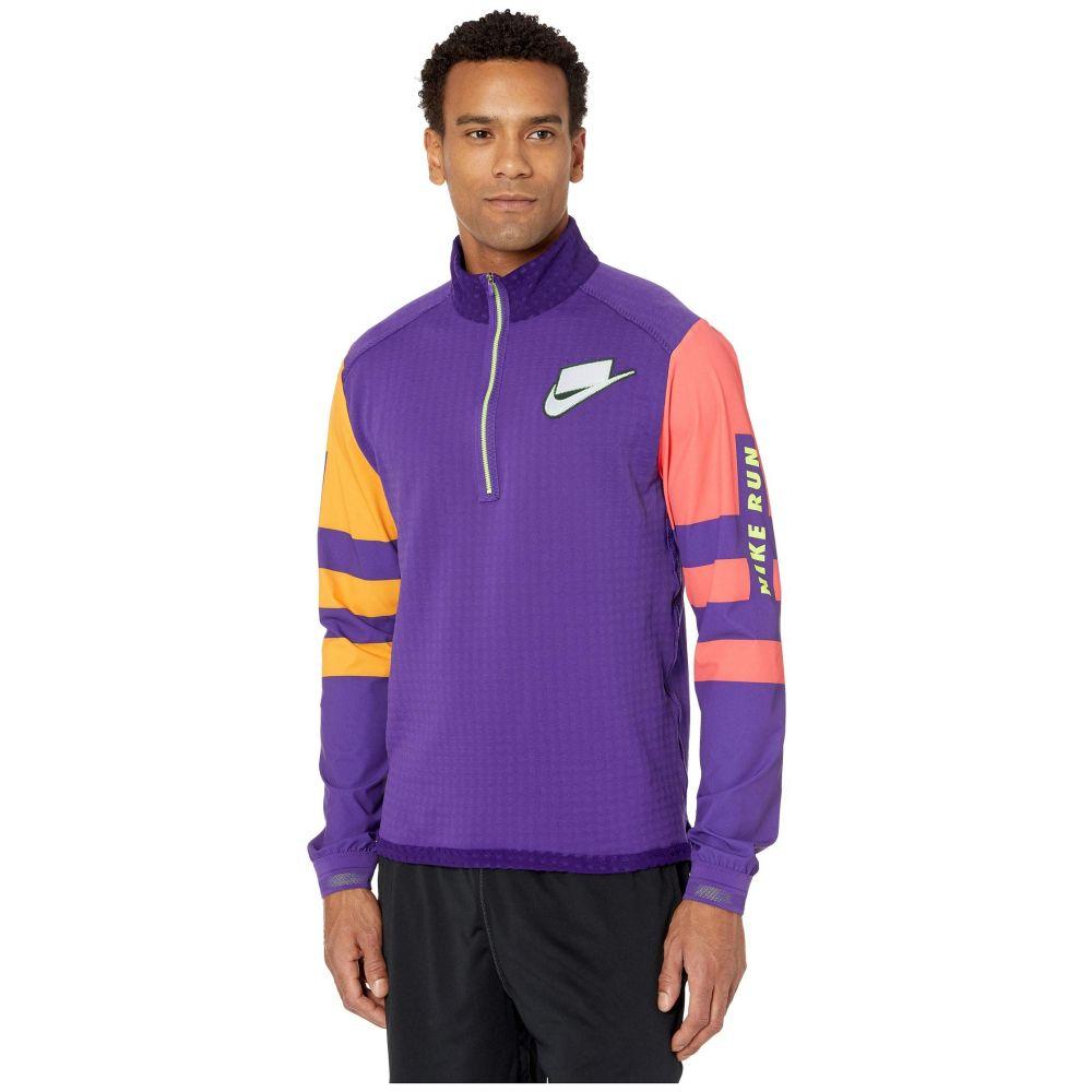 ナイキ Nike メンズ ランニング・ウォーキング ミッドレイヤー トップス【Wild Run Midlayer】Court Purple/Kumquat/Reflective Silver
