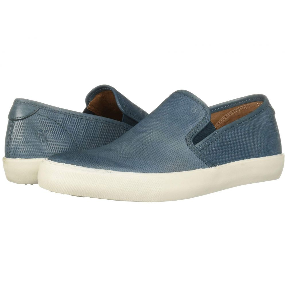 フライ Frye メンズ スリッポン・フラット シューズ・靴【Brett Perf Slip-On】Blue Antique Tumbled Veg Tan