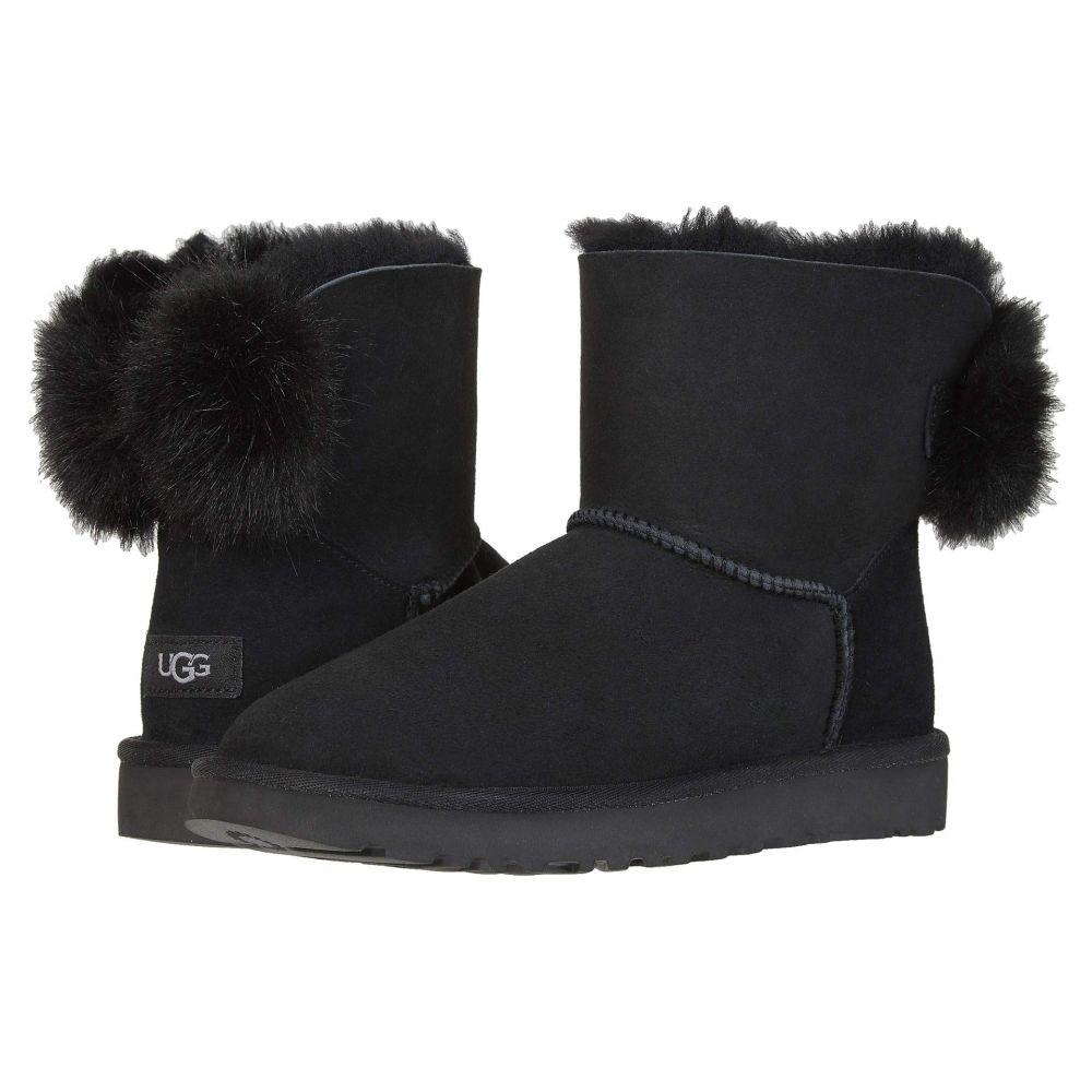 アグ UGG レディース ブーツ シューズ・靴【Mini Puff Crystal Bow】Black