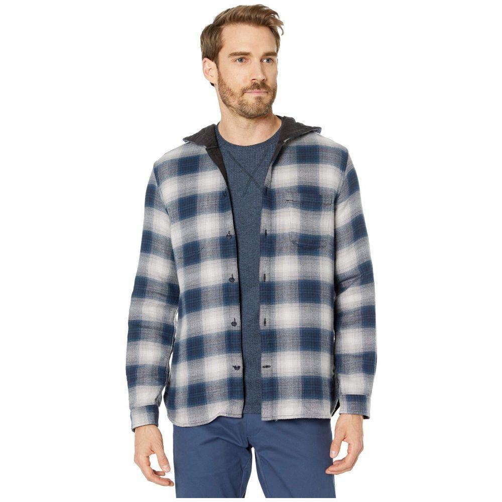 ジョン バルベイトス John Varvatos Star U.S.A. メンズ シャツ トップス【Grayson Hooded Long Sleeve Reversible Sport Shirt W629V3B】Cosmos Blue