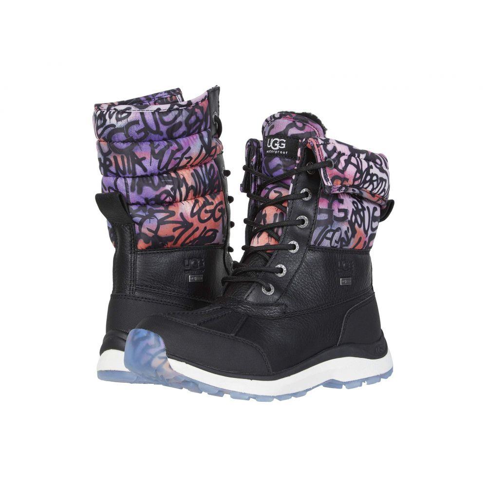 アグ UGG レディース ブーツ シューズ・靴【Adirondack Boot III Graffiti】Black