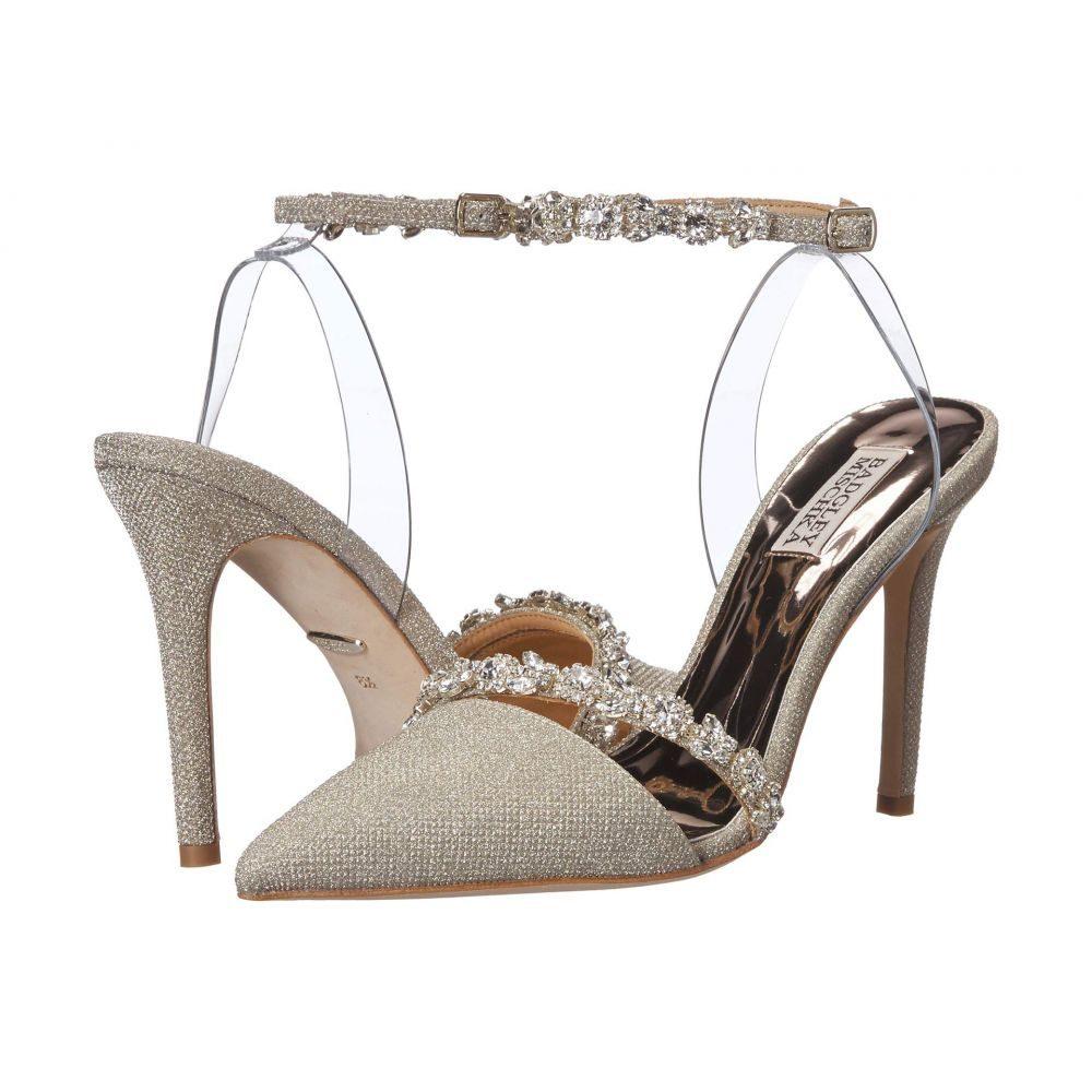 バッジェリー ミシュカ Badgley Mischka レディース パンプス シューズ・靴【Adelina】Platino Diamond Textile