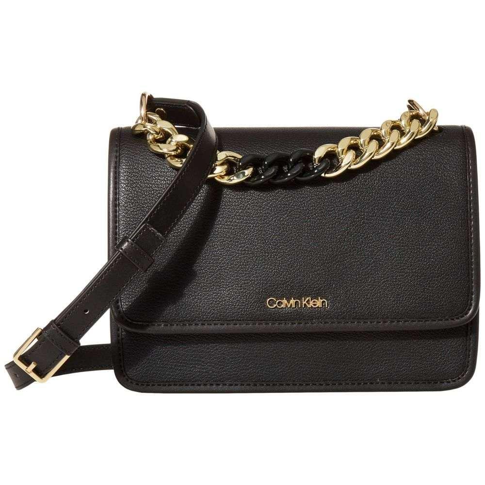 カルバンクライン Calvin Klein レディース ショルダーバッグ バッグ【Ariela Goat Leather Crossbody】Black/Gold