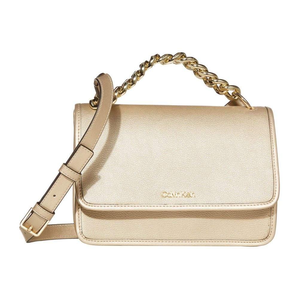 カルバンクライン Calvin Klein レディース ショルダーバッグ バッグ【Ariela Goat Leather Crossbody】Pale Gold