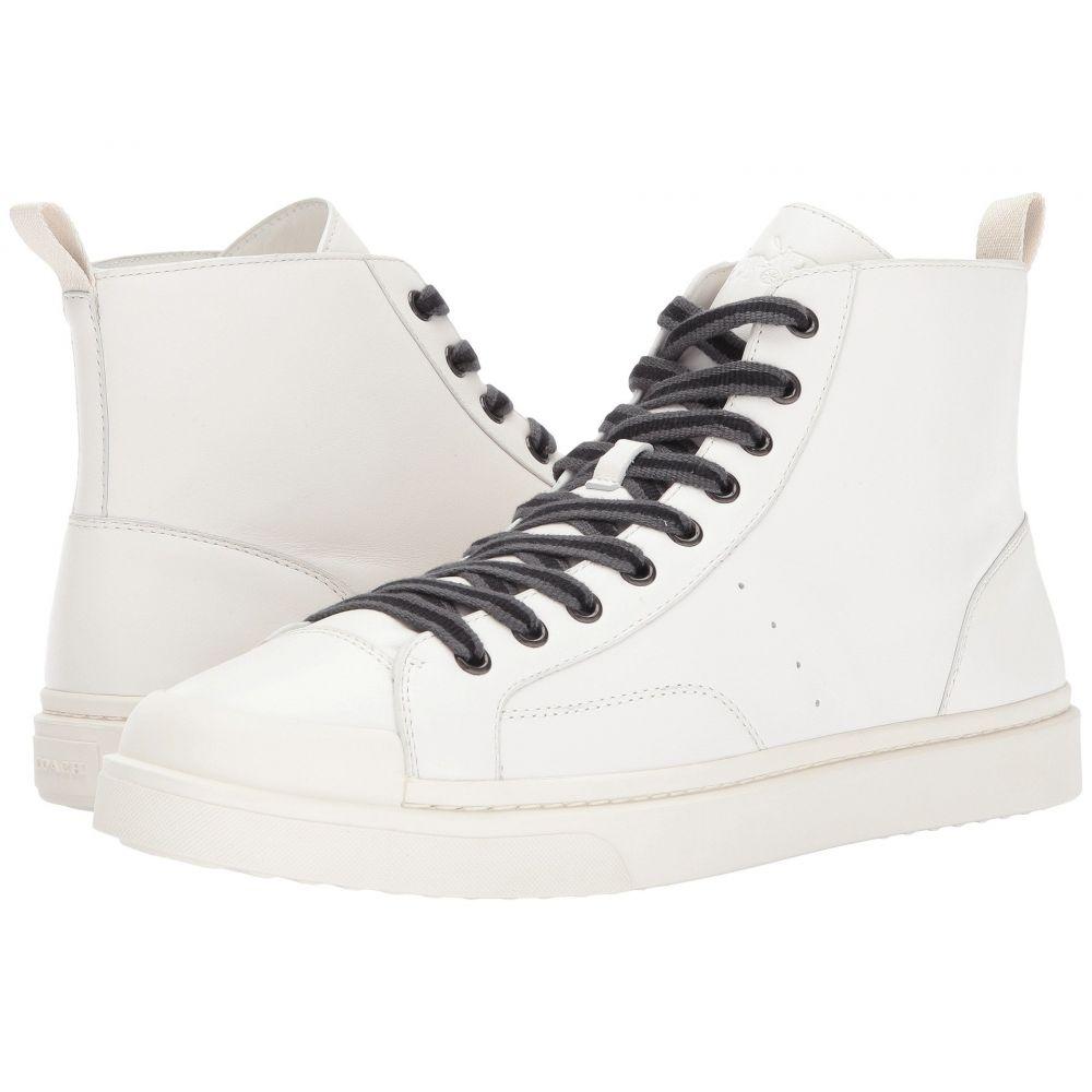 コーチ COACH メンズ スニーカー シューズ・靴【C214 Hi Top Sneaker Leather】White/White