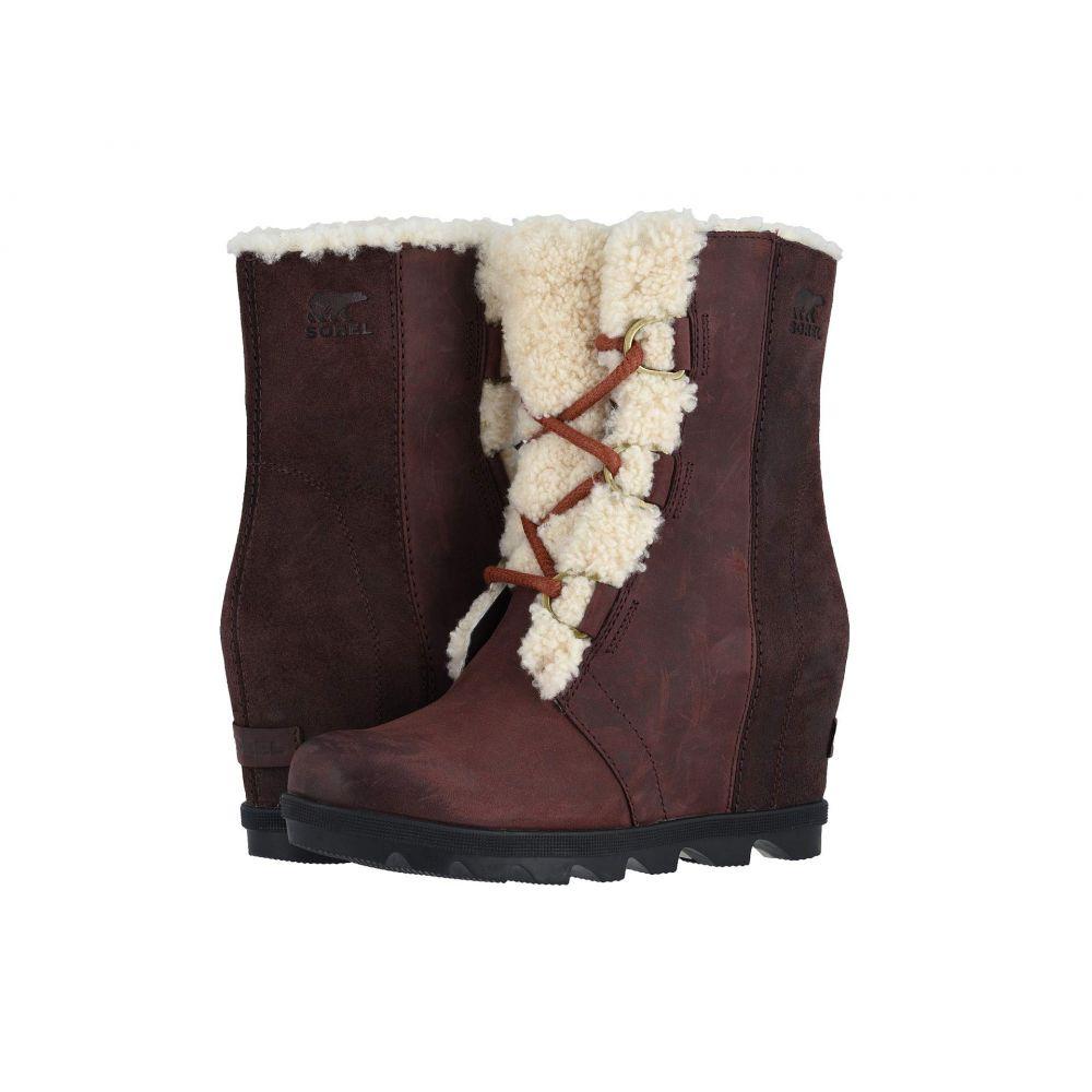 ソレル SOREL レディース ブーツ シアリング ウェッジソール シューズ・靴【Joan of Arctic Wedge II Shearling】Cattail