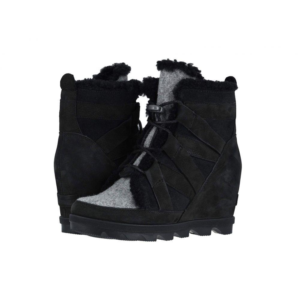 ソレル SOREL レディース ブーツ ウェッジソール シューズ・靴【Joan of Arctic Wedge II Cozy】Black