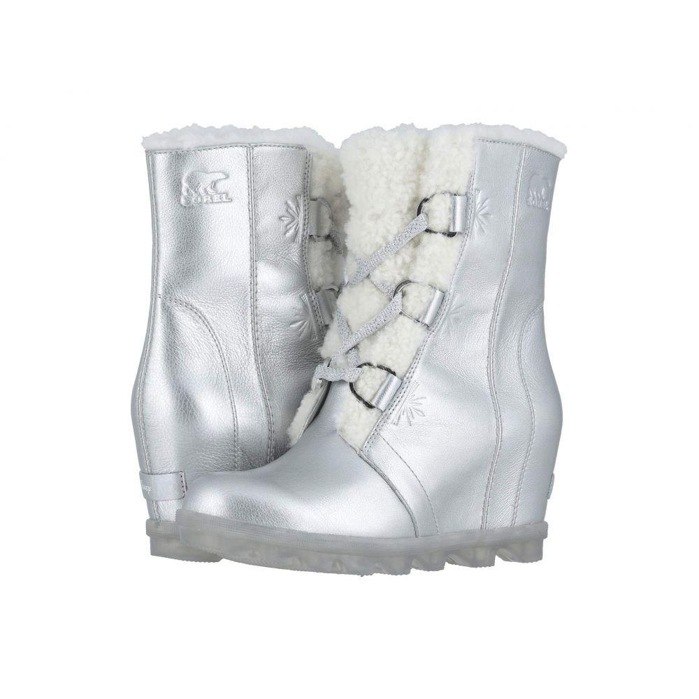 ソレル SOREL レディース ブーツ ウェッジソール シューズ・靴【Disney X Sorel Joan of Arctic Wedge II】Pure Silver