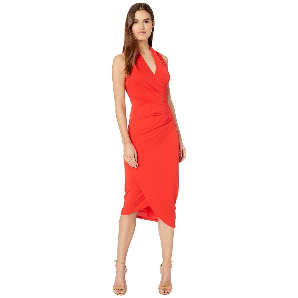 ニコルミラー Nicole Miller レディース ワンピース ミドル丈 ワンピース・ドレス【Stretchy Matte Jersey Midi Dress】Cherry Red