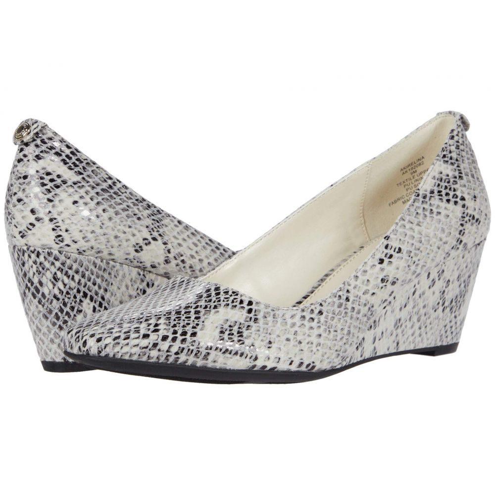 アン クライン Anne Klein レディース ヒール ウェッジソール シューズ・靴【Irelina Wedge】Black/White