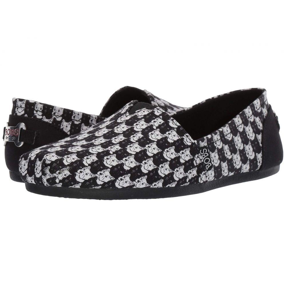 スケッチャーズ BOBS from SKECHERS レディース ローファー・オックスフォード シューズ・靴【Bobs Plush】Black/White
