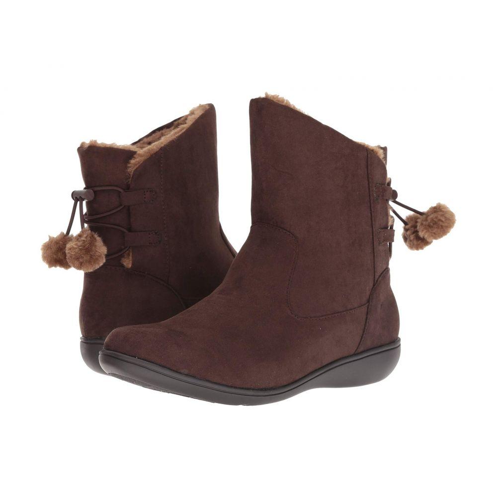 ソフトスタイル Soft Style レディース ブーツ シューズ・靴【Jazzy】Dark Brown Faux Suede