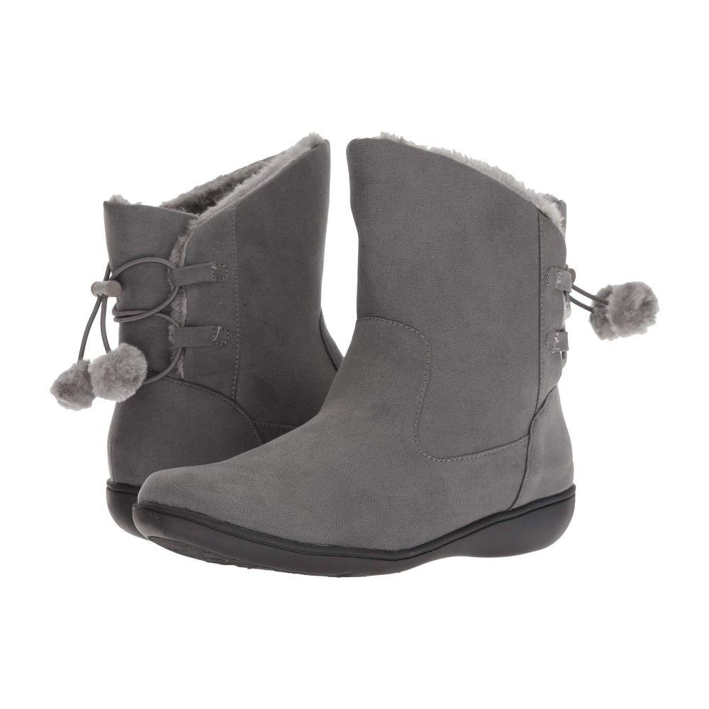 ソフトスタイル Soft Style レディース ブーツ シューズ・靴【Jazzy】Dark Grey Faux Suede