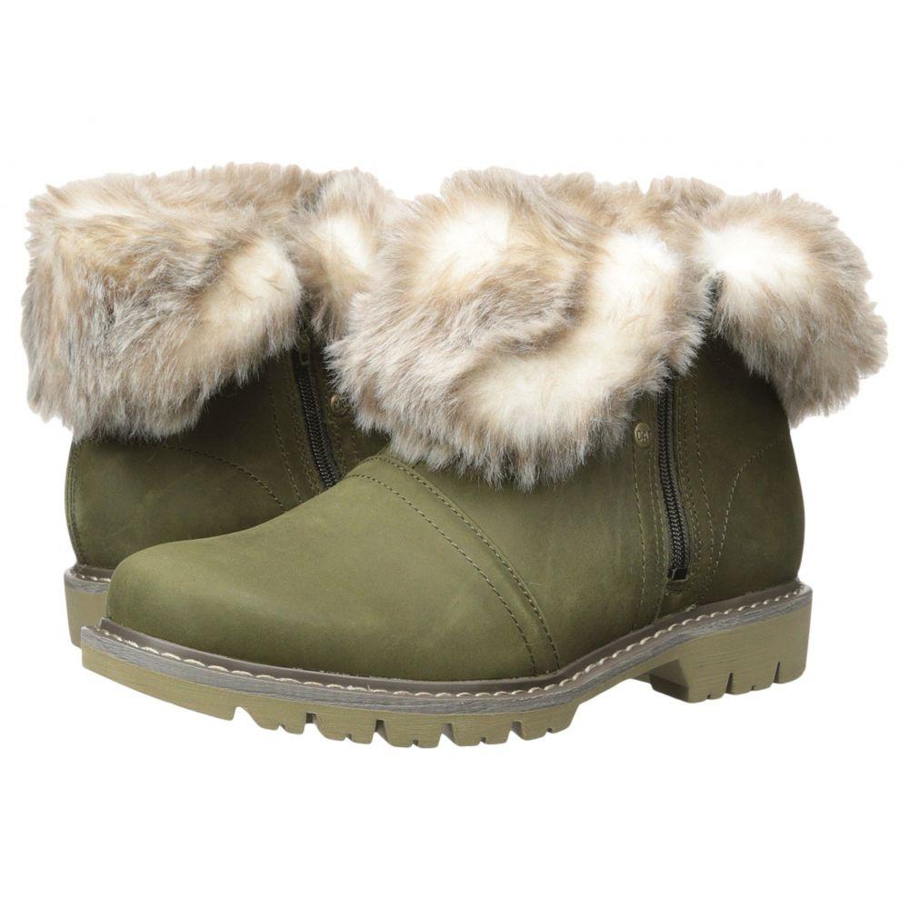 キャピタラー カジュアル Caterpillar Casual レディース ブーツ シューズ・靴【Flurry Fur Waterproof】Dark Loden