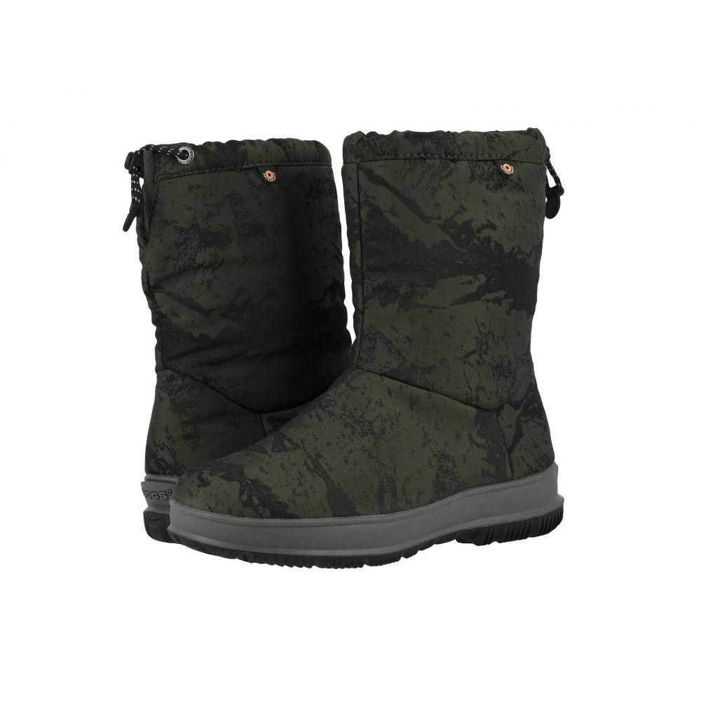ボグス Bogs レディース ブーツ シューズ・靴【Snowday Mid Mountain】Dark Green